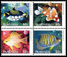francobolli pesci vari