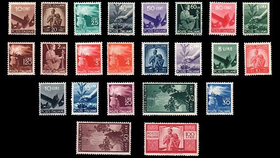 francobolli serie democratica