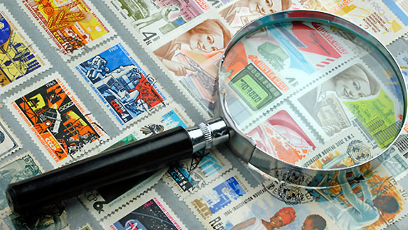 lente per francobolli
