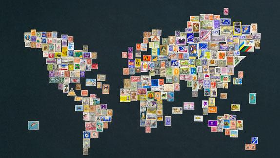mondo a francobolli