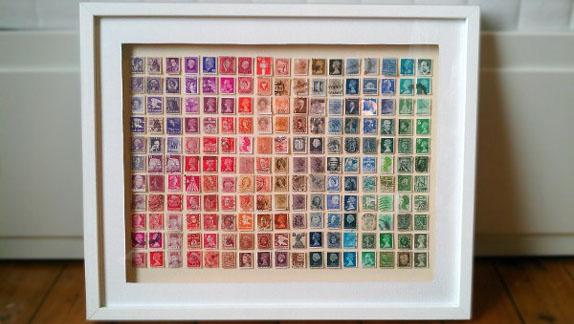 quadro di francobolli